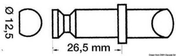 Ruderdollenl aus Kunststoff
