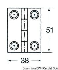 Scharniere 1,7 mm