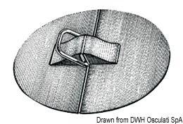D-Ringe aus rostfreiem Edelstahl mit EPDM-Halterung