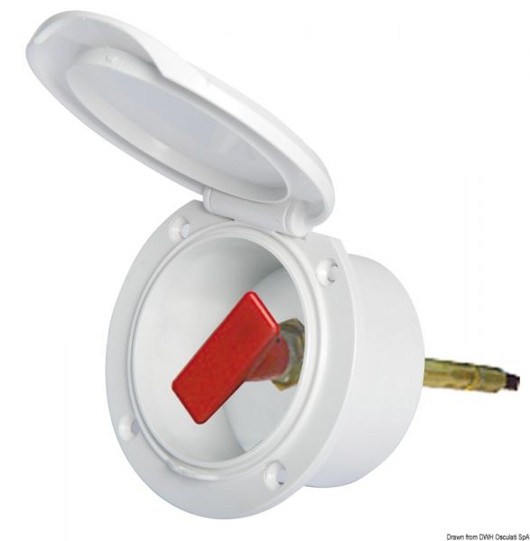 Einbaugehäuse aus weißem ABS