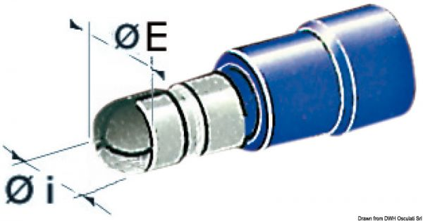 Isolierte Endpole, zylinderförmig